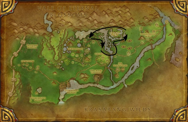 Valley of the Four Winds herbalism map